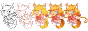 Chibi process WIP by SNathy