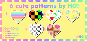 6 Cute Patterns by HG by Crystal-Moore