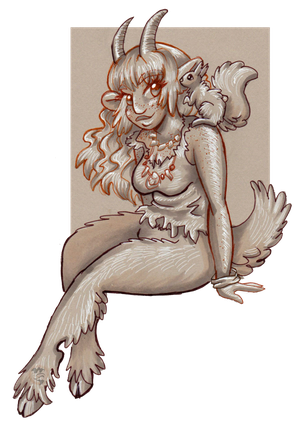 Freya and the Tiny One's Messenger by Mermaid-Kalo