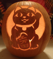 Maneki Neko Pumpkin Light Version by johwee
