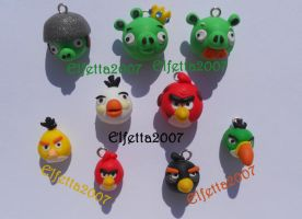 Angry Birds and Pigs for you by Elfetta2007