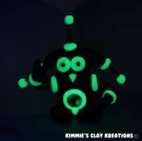 Polymer Clay Monster Figurine - Glow In The Dark by KIMMIESCLAYKREATIONS
