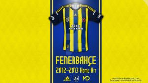 Fenerbahce 2012 2013 Home Kit by Meridiann