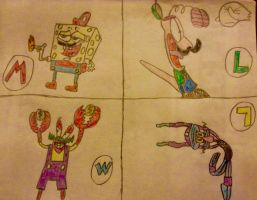 Nickelodeon All-Stars As The Mario/Wario Crew by xandermartin98