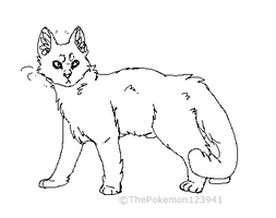 Updated cat lineart by ThePokemon123941