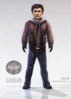 Samson - Game Character Concept Art by MAiJiNTHEARTIST
