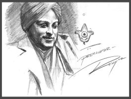 Paramahansa Yogananda by Drawingremy