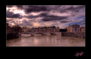 Tevere Bridge in Rome by etsap