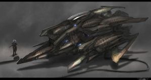 Ship Sketch (3-27-13) by zakforeman