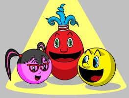 Pac-Man And Friends by AshumBesher