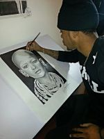 Me drawing......zoned out. by MontyKVirge
