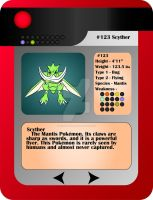 Scyther Pokedex Entry by mca2008