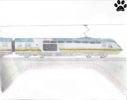 Sketch Color - Railway Train by NodLupetianWolf