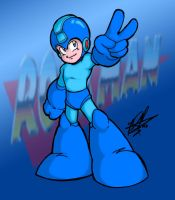 Rockman - Colored by IrregularHunterZero