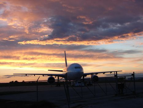 Twilight Airport Skyscape by FantasyStock