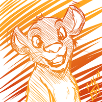 Simba doodle by Miss-Sheepy