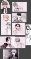 exo sketchdump by Cattkins