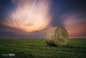 Straw sunset by NorbertKocsis