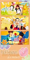 JYJ Pack Signarture by @ EJ by Eriol-Diggory-Art