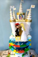 Super Mario Wedding Cake I by Verusca