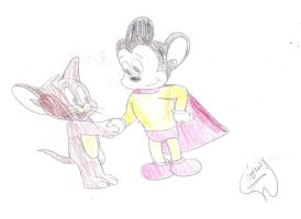 Jerry meets Mighty Mouse by MarcosPower1996