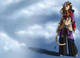 Cat From Afar Color by Jackwrench