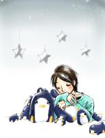 Tegoshi and the Penguins by naccholen