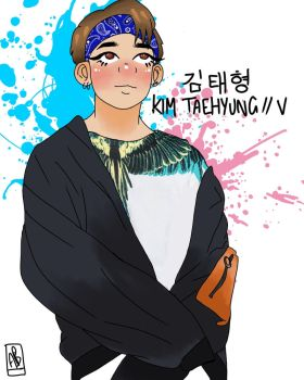 V // Taehyung // BTS by MoonBallo0on