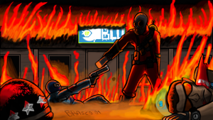 Pyro vs Spy tf2 by ComandanteBrasco