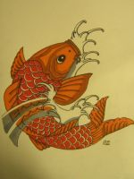 Japanese Koi - Coloured by lirolx