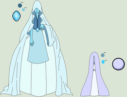 SU Adopt - Light Blue Diamond And Her Pearl(Closed by The-Panda-Lover