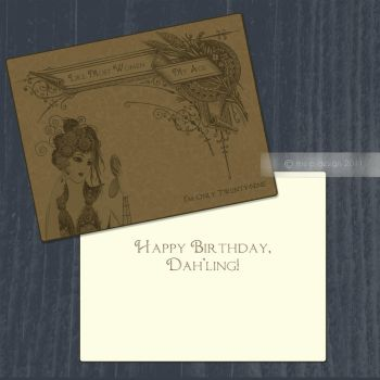 29 and Holding Birthday Card by mrsPella