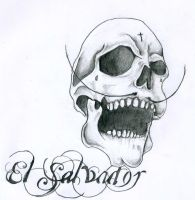 El Salvador skull by nat269