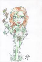 Watercolor Commission Poison Ivy 1 by dekarogue