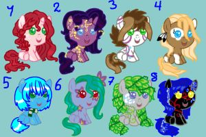 Baby Pony adoptables 04 Breedable again^^ CLOSED! by Sarahostervig
