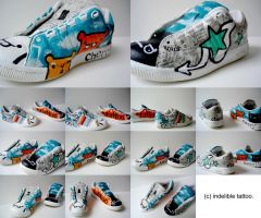 Painted Shoe:First Time:Finish by indelibletattoo