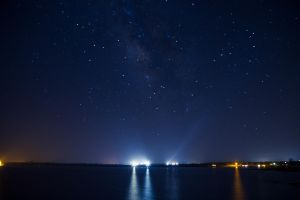 Milky Way at the Lake by xtrmquestion