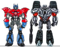 Optimus And Megatron by Jochimus