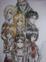 Attack on Titan characters Shingeki no kyojin by tsundere-chan55