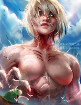 Female Titan by sakimichan