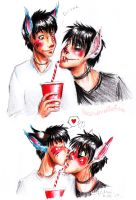 drink. kiss. blush. by Fukari