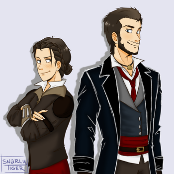 Frye Twins by snarly-tiger