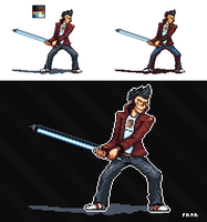 Travis Touchdown pixel by Frario