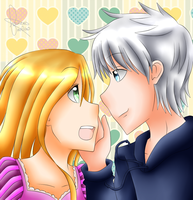 Jack Frost and Rapunzel by mo0on3