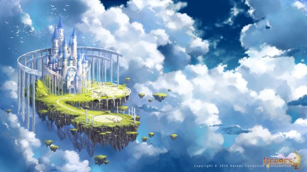 sky castle by zhowee14