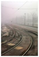 Rails into the mist by Pajunen