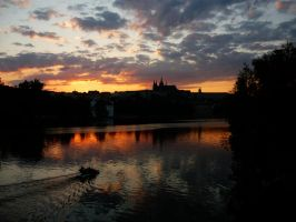 Prague silhouettes by LaRoseDePetitPrince