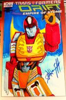 G1 Hot Rod sketch cover by steelcitycustomart