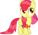 [Vector] Wet Maned Apple Bloom by darkoverlords