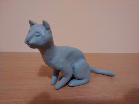 Blue-Tack Cat by shenzhuxi